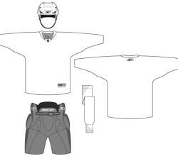 Hockey Uniform Template Free Vector