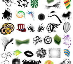 Free Clip Art Elements Vector Pack