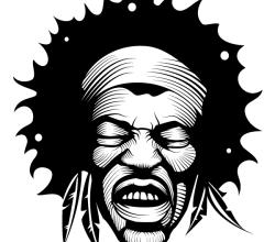 Jimi Hendrix Vector Image