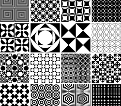 Vector Monochrome Geometric Seamless Pattern Design