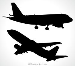 Aeroplane Vector Silhouette