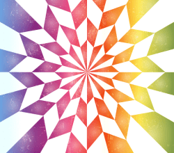 Star Optical Illusion Rainbow Background Vector