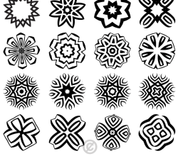 Decorative Geometric Shapes Illustrator