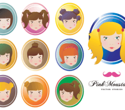Free Doll Face Vectors
