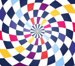 Colorful Spiral Op Art Vector