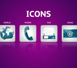 Free Contact Icons Vector Pack