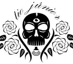 Vector Skull with Flowers