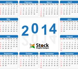 2014 Calendar Vector Free Download
