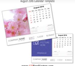 August 2016 Calendar Template