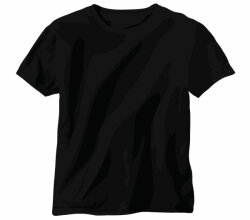 Free Vector Black Shirt Template