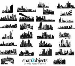 Skylines Free Vector Pack
