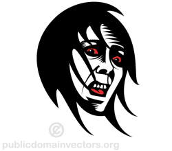 Fearful Face Clip Art Vector