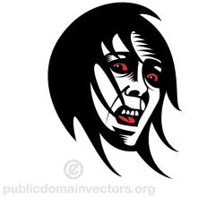 Fearful Face Clip Art Vector