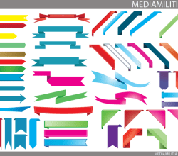 3D Elements – Banners & Ribbons Vector