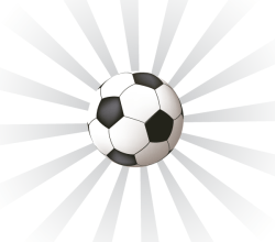 Vector Sunburst Background with Soccer Ball