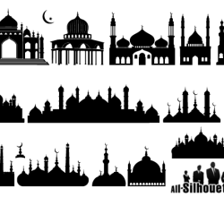 Islamic Mosque Silhouette Vector Art