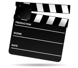 Vector Clip Art Movie Clapper Board