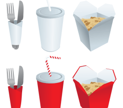 Fast Food Elements Free Vector Set