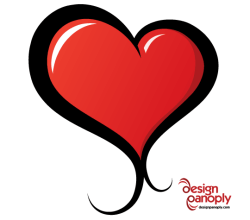 Red Heart Vector Illustrated Free