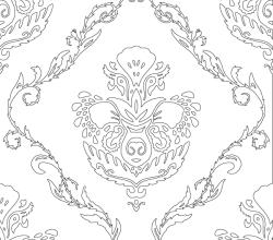 Vector Svg Floral Wallpaper Pattern
