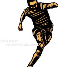 Soccer Player Kicking Position Vector