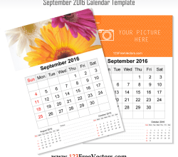 Wall Calendar September 2016