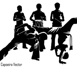 Vector Capoeira Dancer Silhouettes
