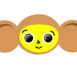 Vector Cheburashka  Russian Cartoon Character