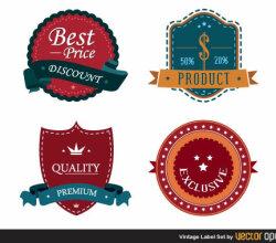 Vector Vintage Label Design
