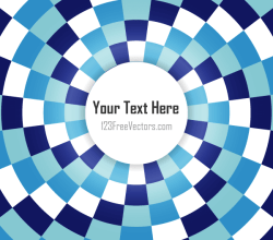 Abstract Blue Checkered Optical Illusion Backdrop Vector