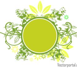 Green Floral Circle Banner Design