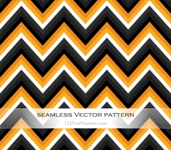 Orange and Black Zig Zag Seamless Pattern