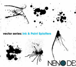 Ink &Amp; Paint Splatters Vector