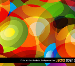 Colorful Psychedelic Background Vector