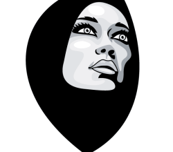 Woman in Burka Vector Image