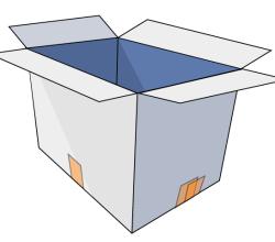 Free Vector Cardboard Box