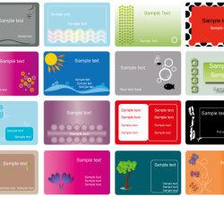 Business Card Vector Set