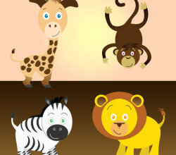 Vector Cartoon Safari Animals Images