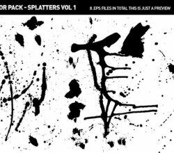 Vector Paint Splatters & Spills