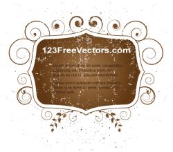 Vector Illustrator Floral Grunge Frame Design