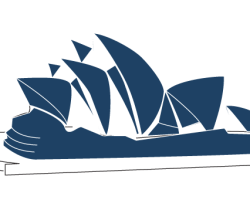 Sydney Opera House Line Art Illustration