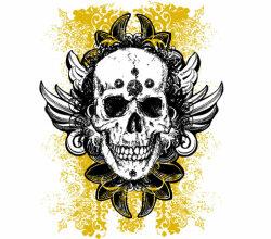 Grunge Skulls Vector