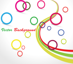 Free Vector Colorful Circle Design Background