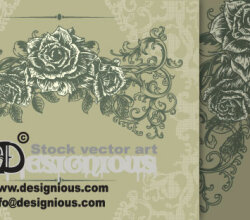 Free Vector Vintage Floral Illustration