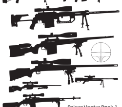 Gun Vector Sniper Rifle Free Illustrator Pack