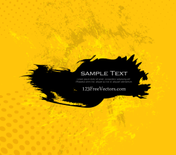Yellow Grunge Background Illustration