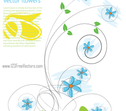 Beautiful Flowers Vector Background