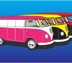 Volkswagen Type 2 Vector Art
