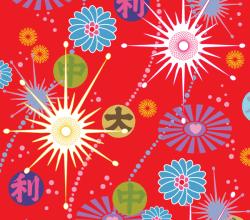 Asian Pop Vector Background Design