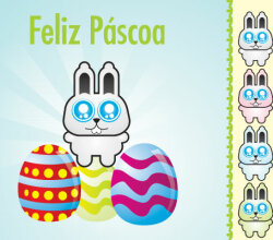 Easter Cardboard Vector Art